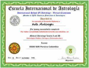 Diploma curso astrologia
