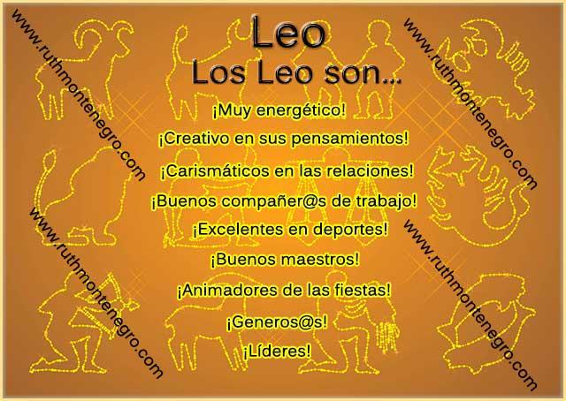 Caracteristicas positivas negativas signo Leo
