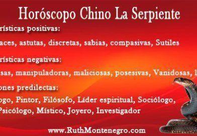 Horóscopo Chino la Serpiente