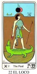 El loco o el cocodrilo en el tarot egipcio